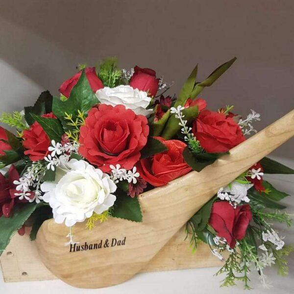 Personalised Artificial Flower Funeral Arrangements