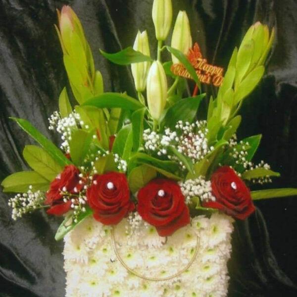 Handbag Flower Arrangement